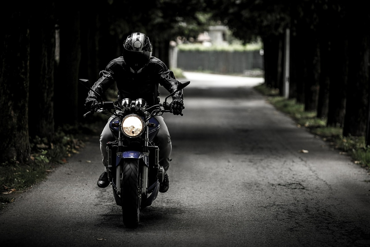 Card image motorcycle rider
